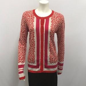 Escada Sport Cardigan Sweater Animal Print SZ L